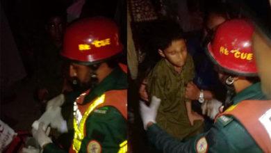 Photo of کھیوڑہ روڈ پر رکشہ الٹ گیا، 8 سالہ بچہ اور خاتون شدید زخمی