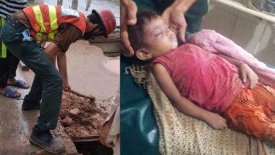 Photo of سوہاوہ کے نواحی علاقہ میں گھر کی دیوار گرنے سے ننھی کلی مرجھا گئی، ایک بچی زخمی