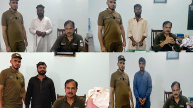 Photo of جہلم پولیس کی سماج دشمن عناصر کے خلاف کارروائیاں، 4 ملزمان گرفتار