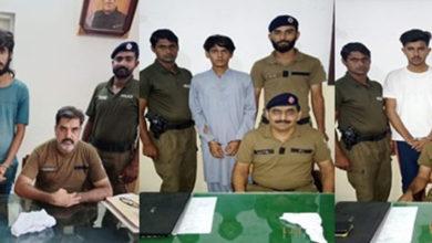 Photo of جہلم پولیس کا جرائم پیشہ عناصر کے خلاف ایکشن، منشیات فروشوں سمیت 10 ملزمان گرفتار