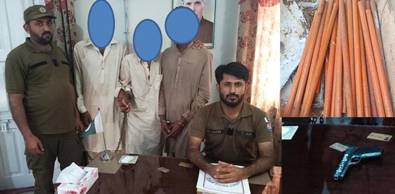 Photo of کھیوڑہ پولیس کا چوروں کے خلاف ایکشن، 3 چور گرفتار، مال مسروقہ برآمد