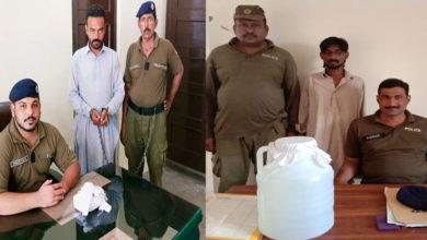 Photo of جہلم پولیس کی سماج دشمن عناصر کے خلاف کارروائیاں، 2 ملزمان منشیات سمیت گرفتار