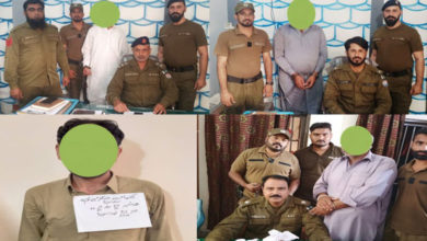 Photo of جہلم پولیس کا سماج دشمن عناصر کے خلاف ایکشن، منشیات فروشوں سمیت 5 ملزمان گرفتار